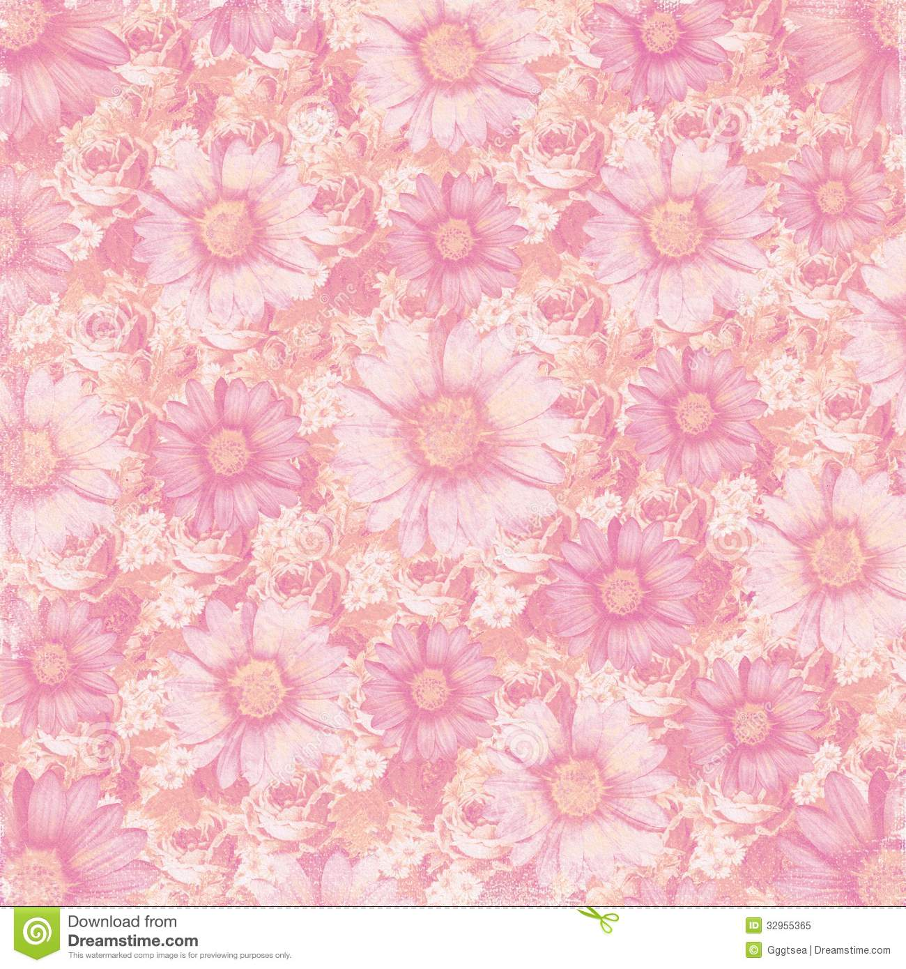 Antique Vintage Flowers Background Royalty Free Stock Photo - Image ... Flower Vine Clipart
