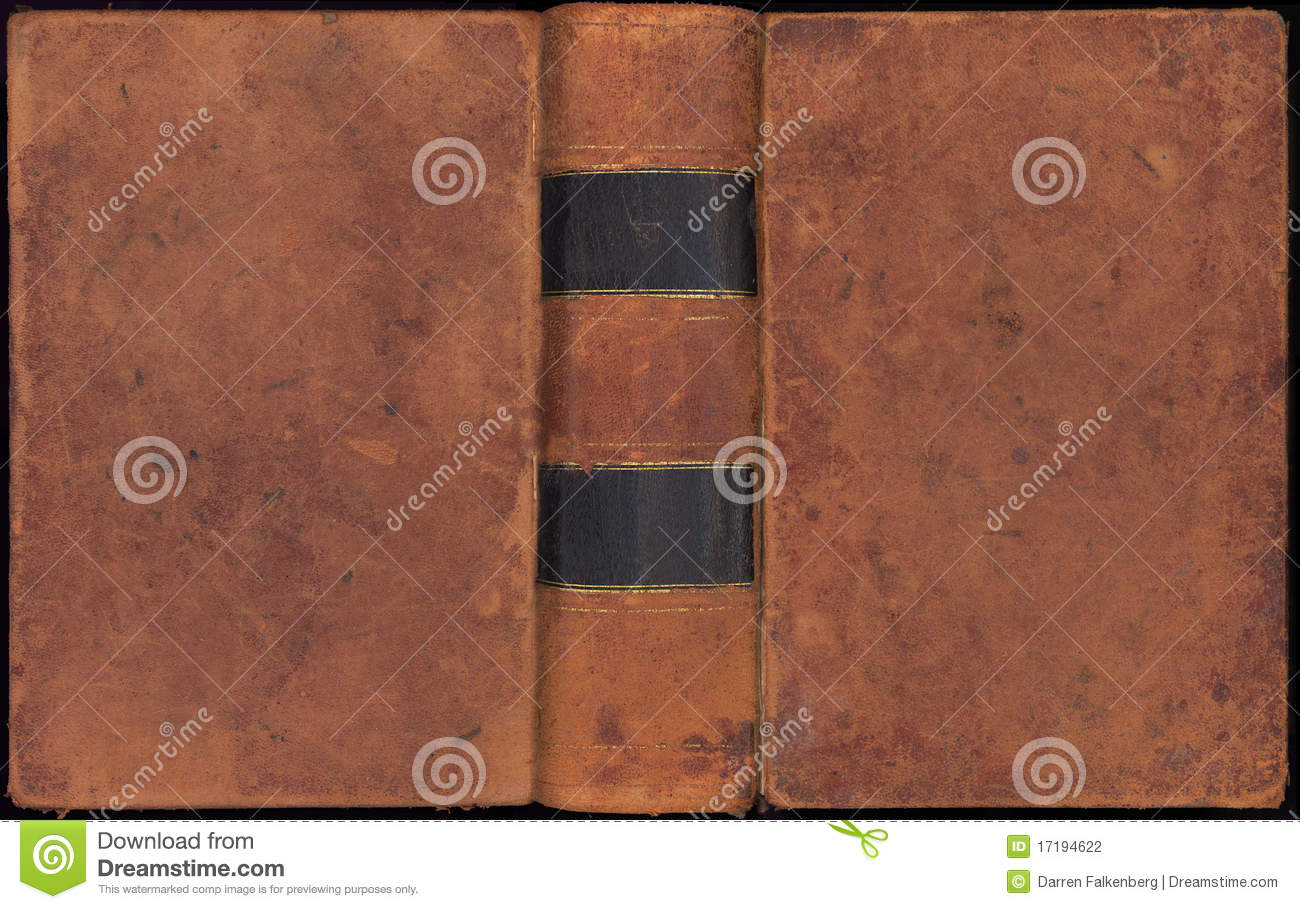 Vintage Leather Book Cover : Antique vintage leather book cover stock photography