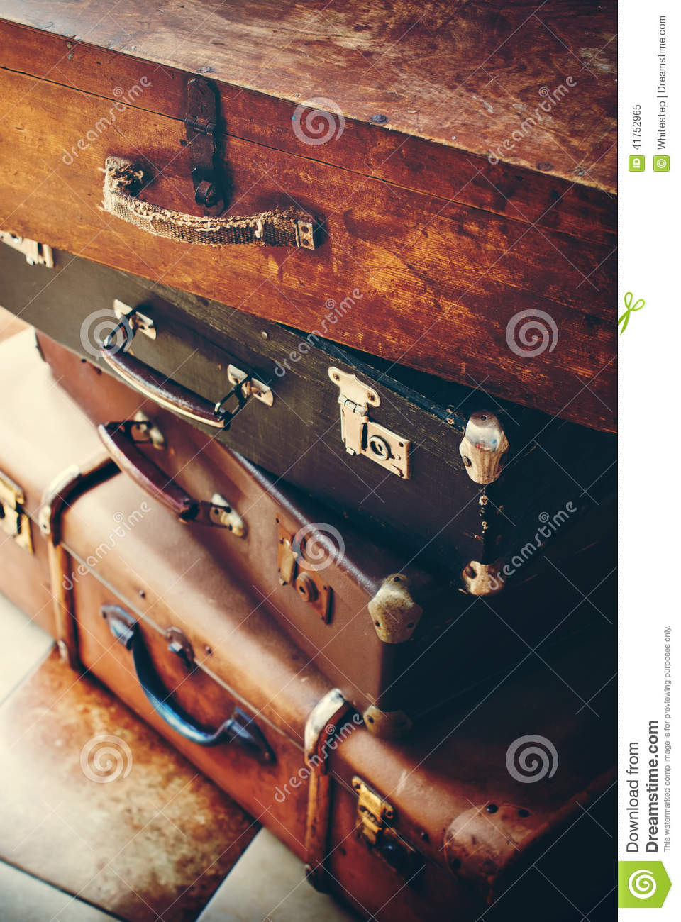 Antique Vintage Trunks and Handles with Locks