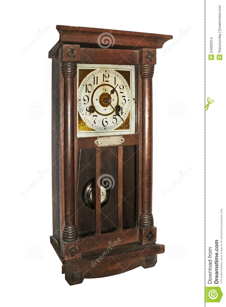 Antique Wall Clock Stock Images - Image: 24902514