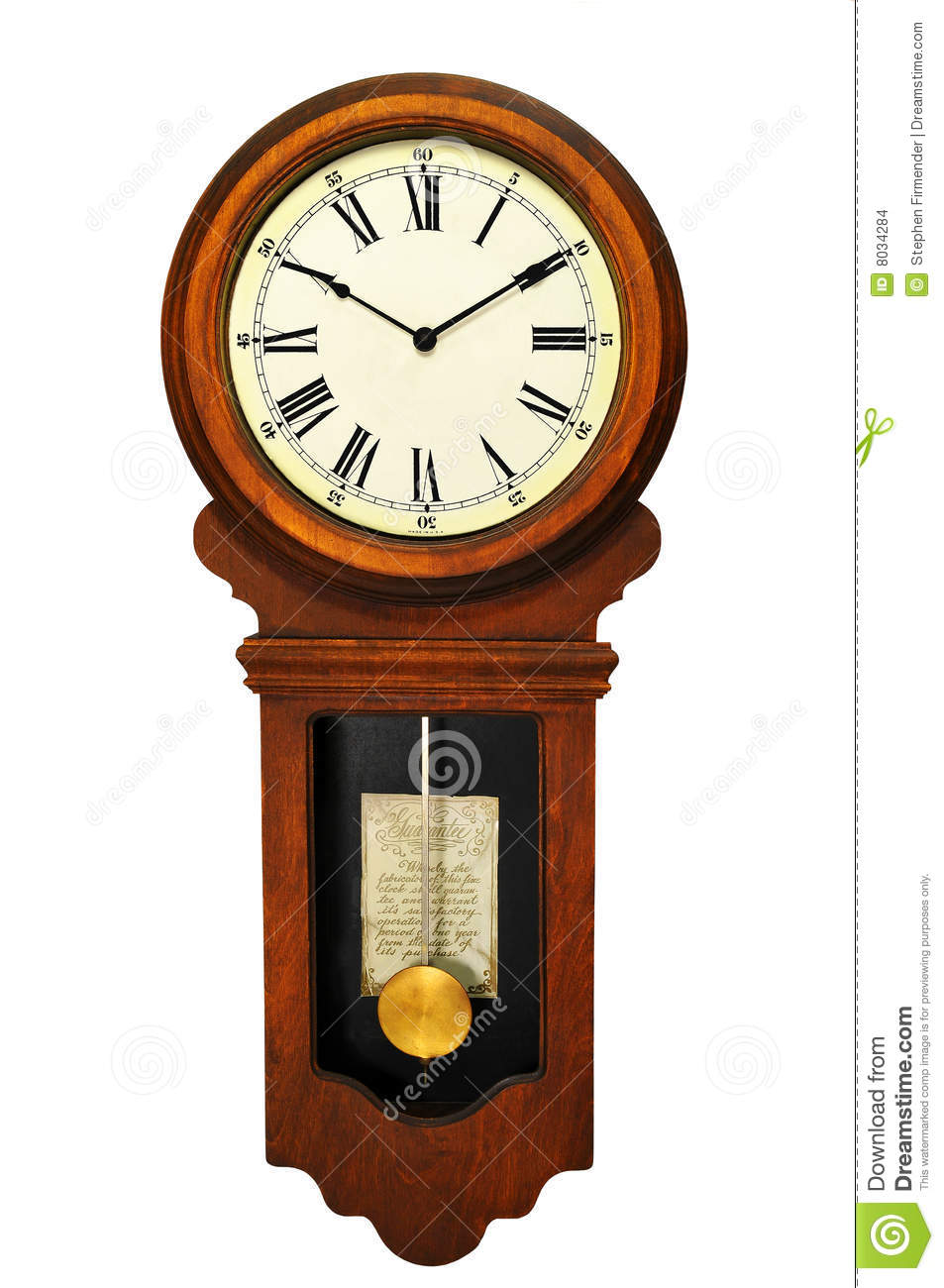 Antique wall clock stock photo image of vintage time for Reloj de pared antiguo