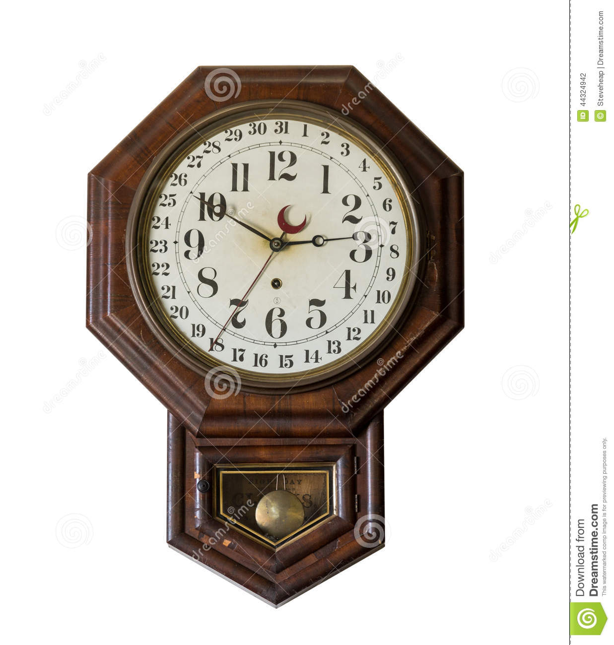 Antique wall clock in old general store at appomattox stock photo antique wall clock in old general store at appomattox amipublicfo Choice Image