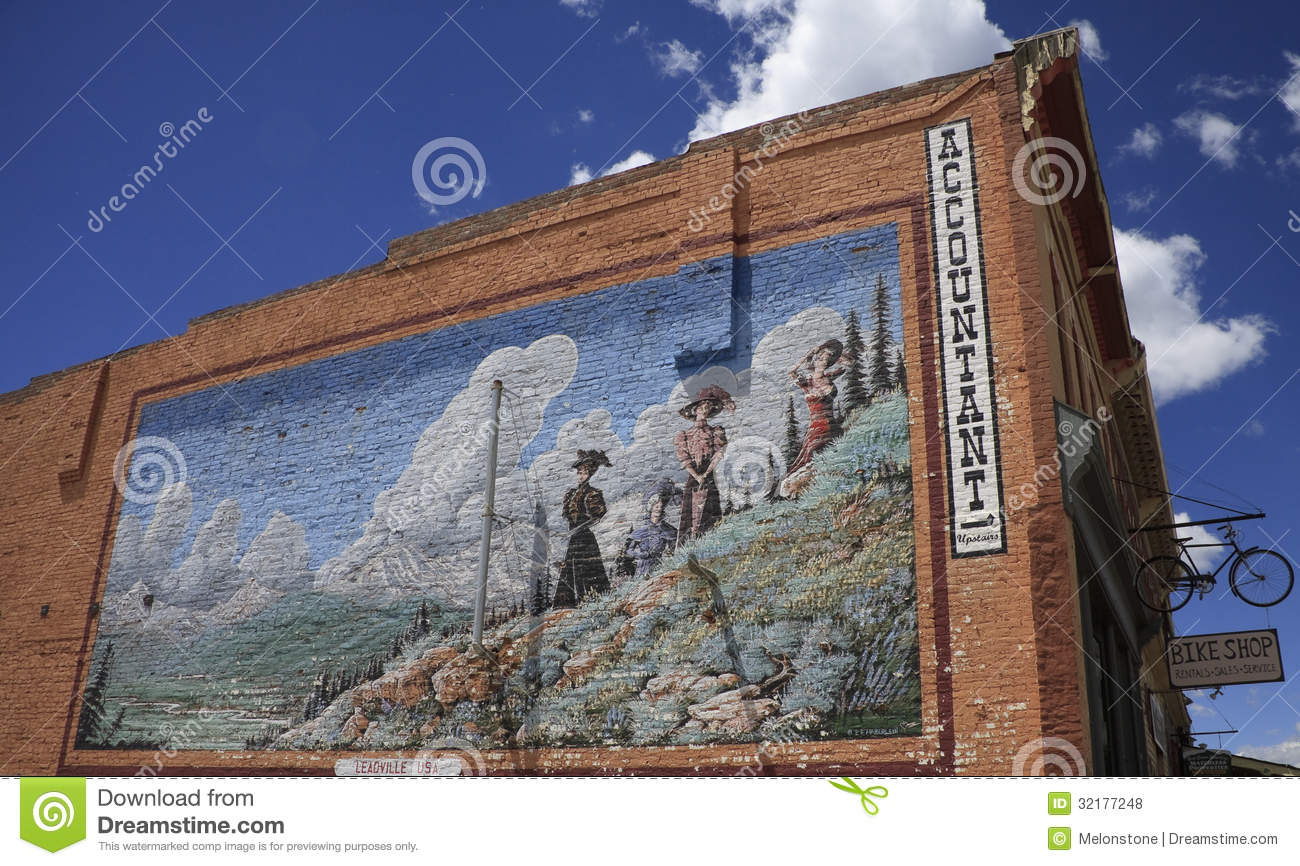 Antique wall mural advertisement editorial stock photo for Construction mural