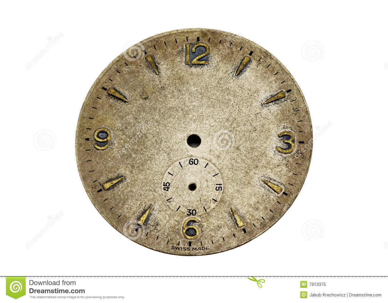 Antique Watch Face Royalty Free Stock Photo Image 7913375