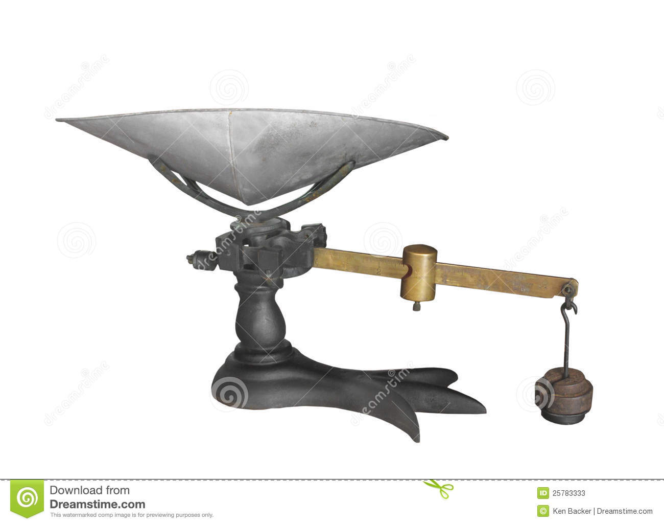 antique weigh scale isolated stock image image of store iron