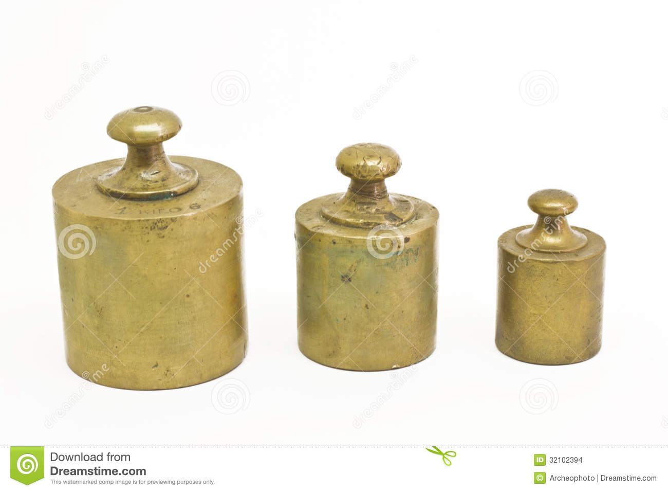 Scale Calibration Weights >> Antique Weights Stock Images - Image: 32102394