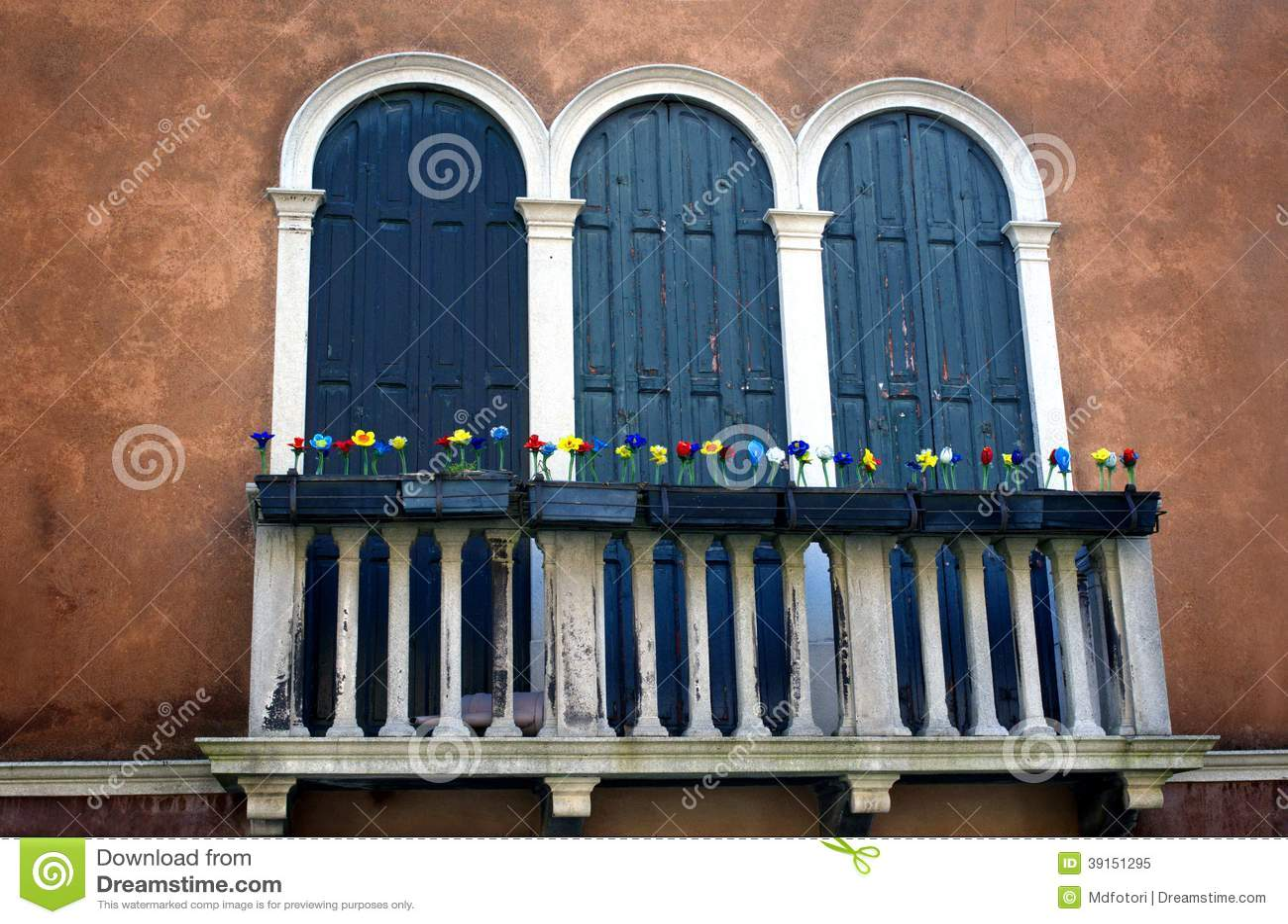 Antique Windows Antique Windows And Balcony In Venice Stock Photo Image 39151295