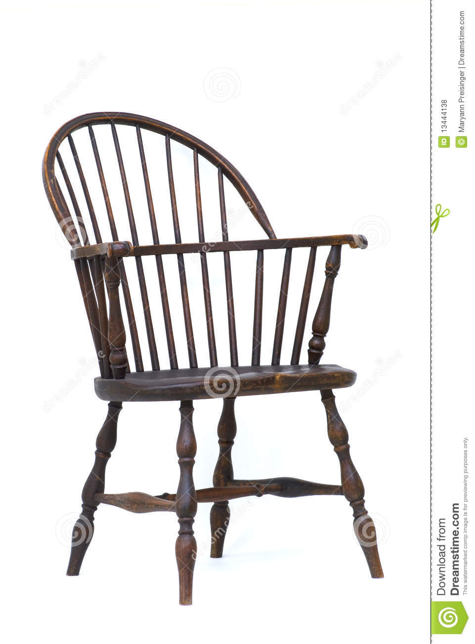 Antique Windsor Chair Isolated