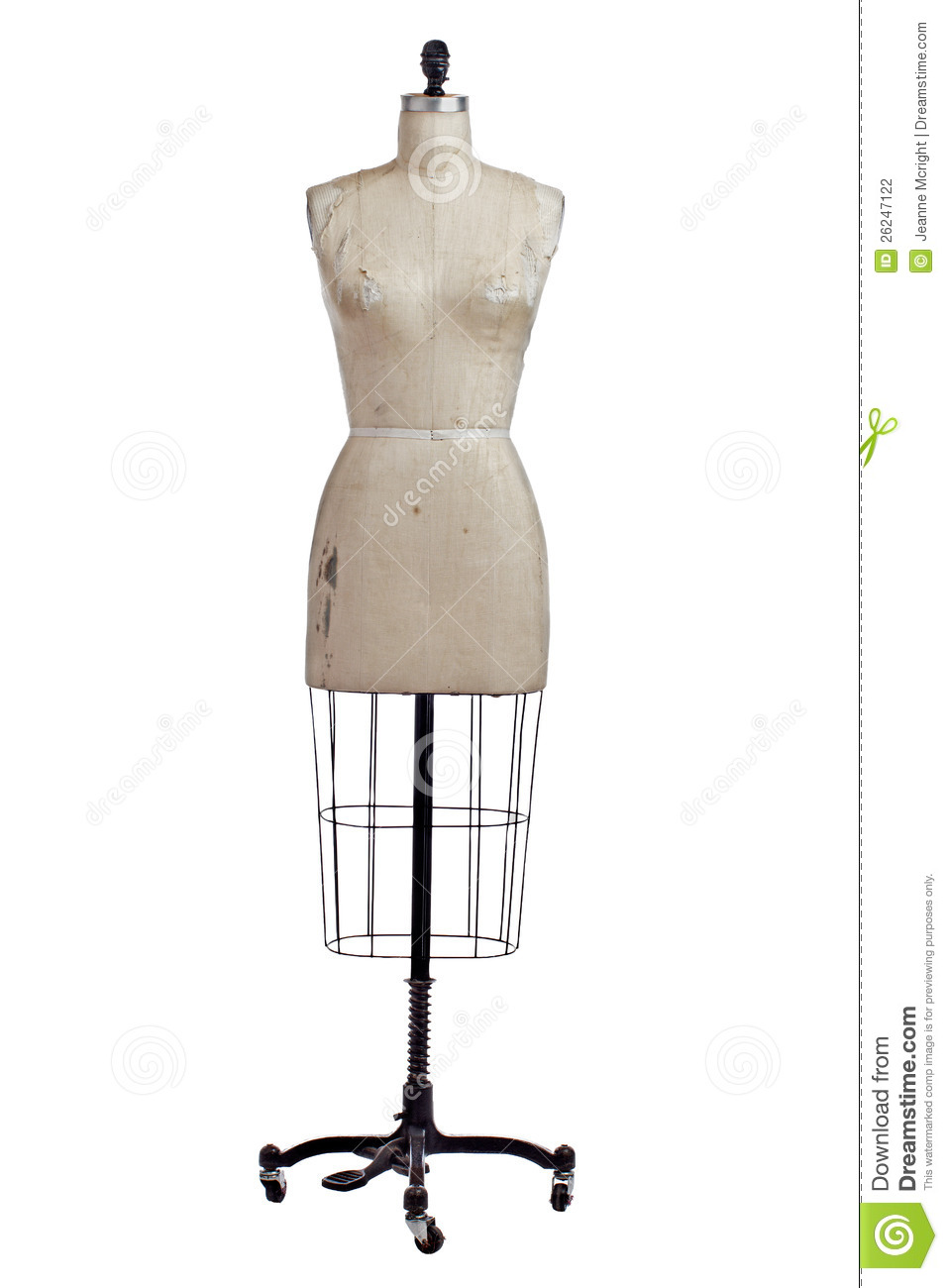 antique wire and linen dress form on stand stock photo image of