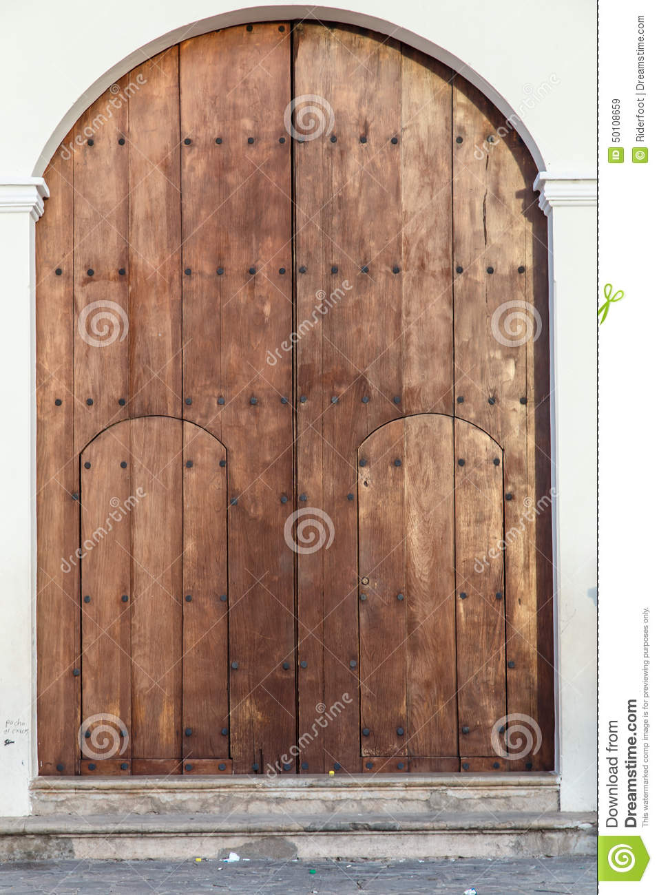 Antique Wood Door From A Church Stock Photo - Image: 50108659