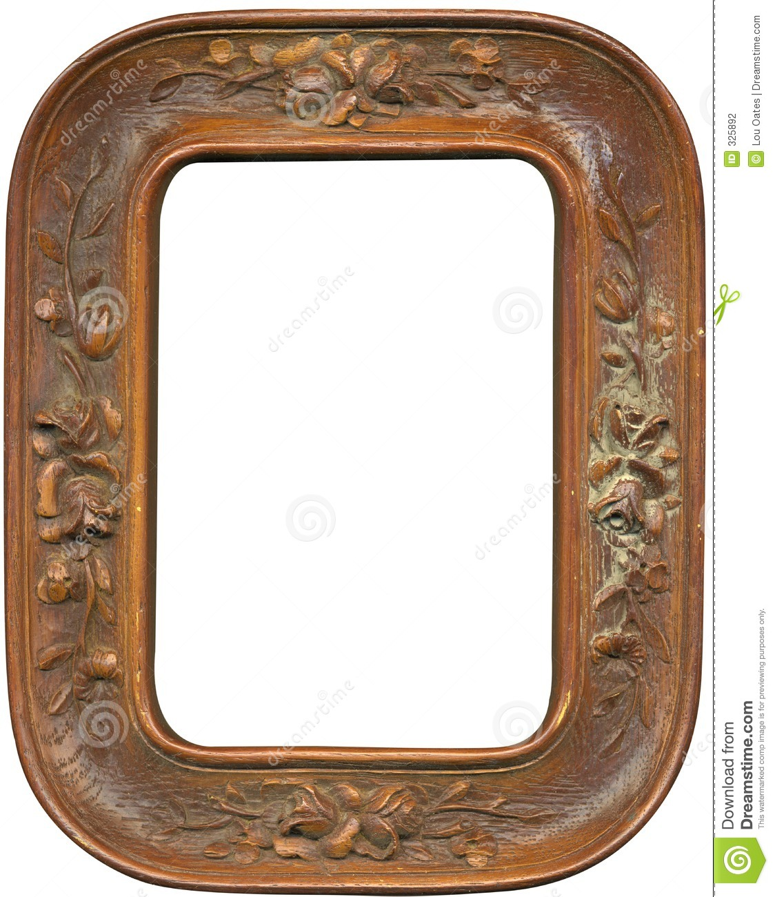 Antique Wood Frame Stock Photo Image Of Canvas Montage