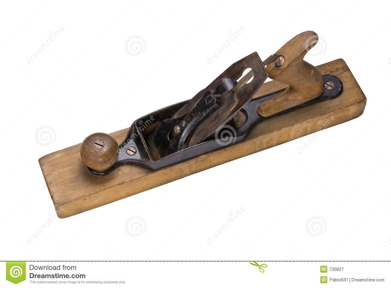 An Antique Wood Working Plane Hand Tool Stock Image Image Of