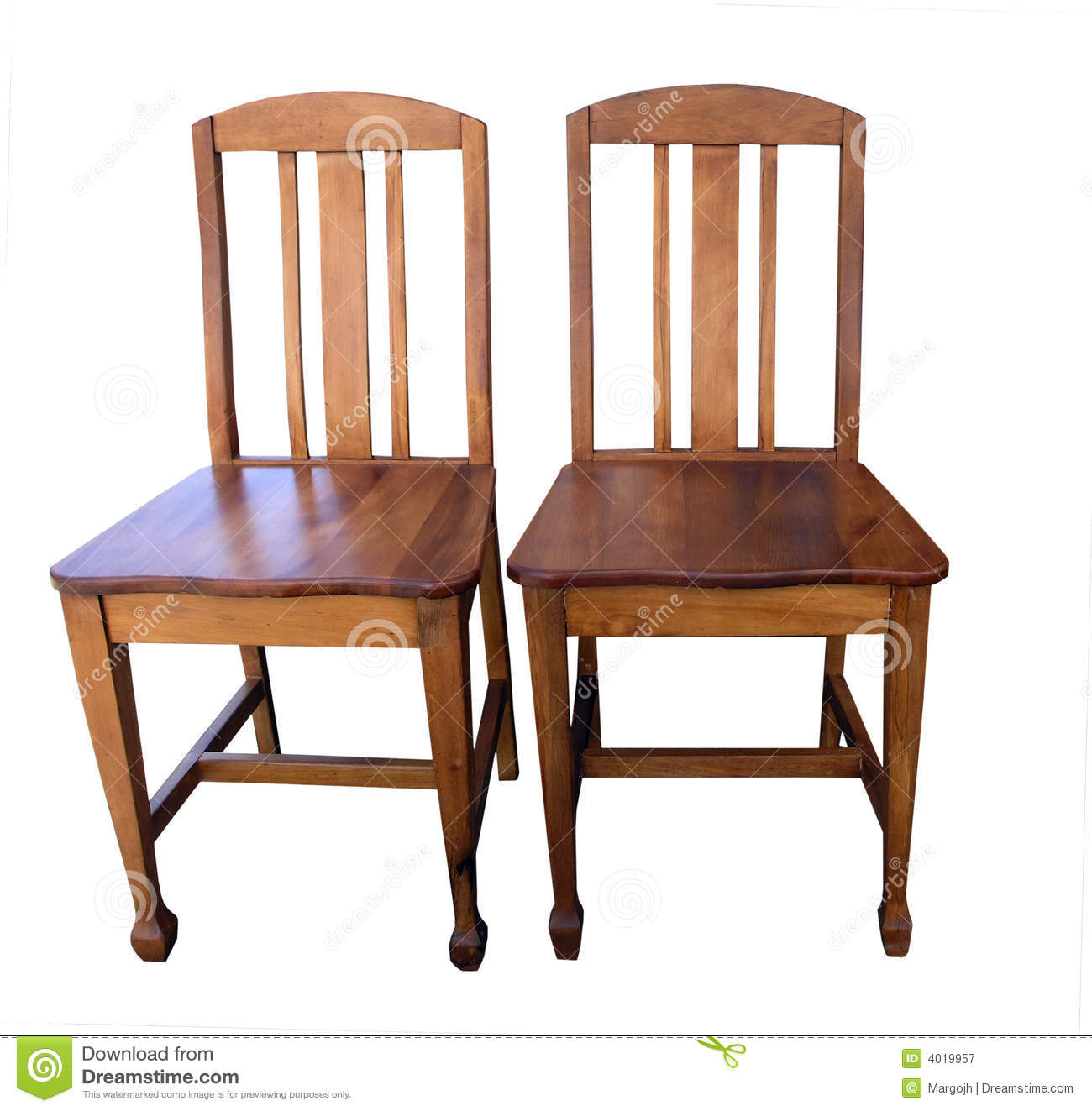 Antique wooden chairs royalty free stock photography image 4019957