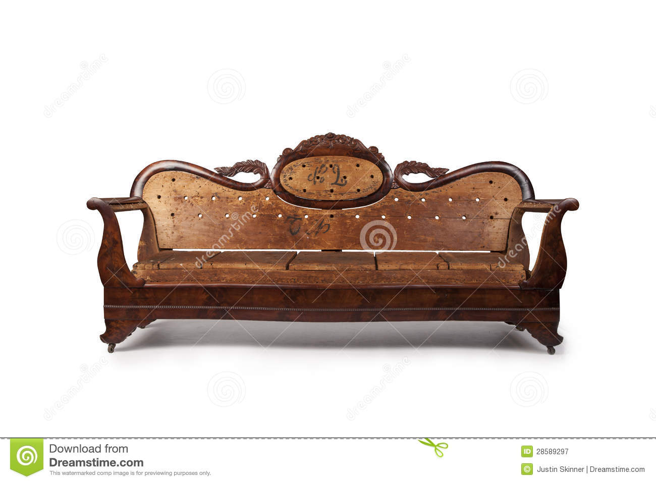 Wooden Couch Antique Wooden Couch Royalty Free Stock Photography  Image 28589297