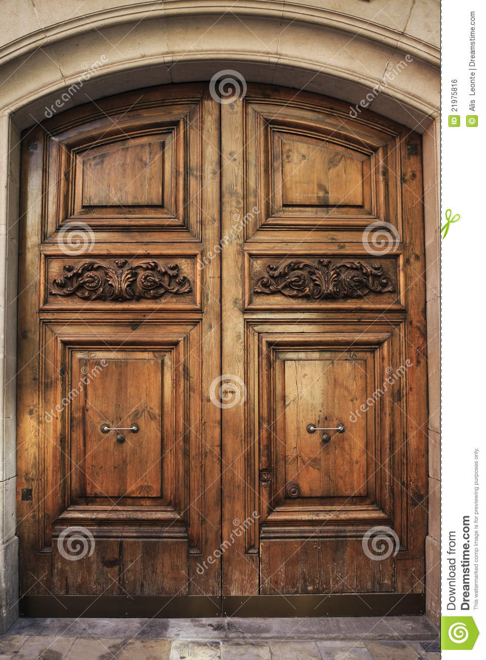 Old Wooden Doors : Antique wooden door stock photo image of access