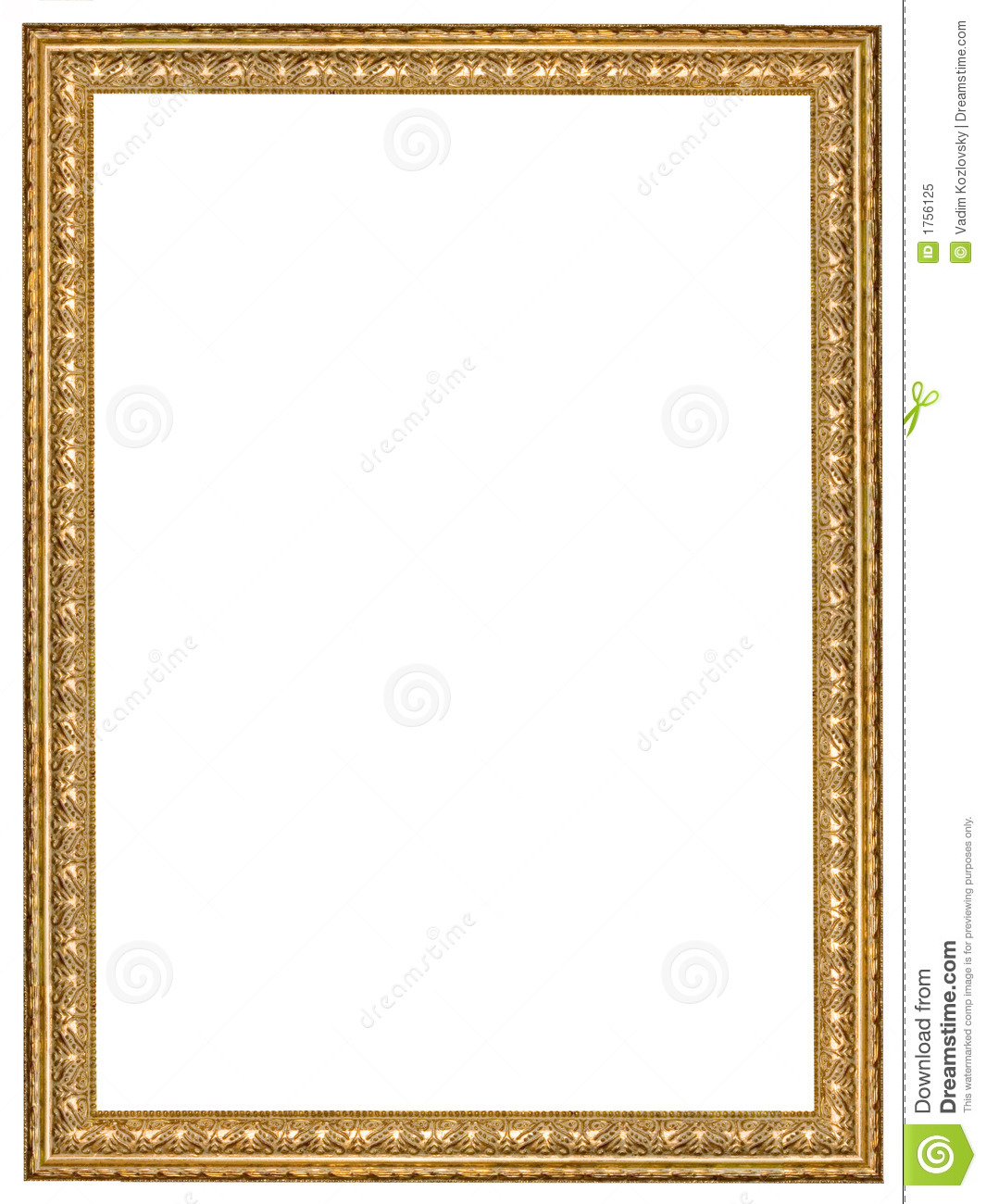 Antique wooden frame stock image. Image of painting, frame - 1756125