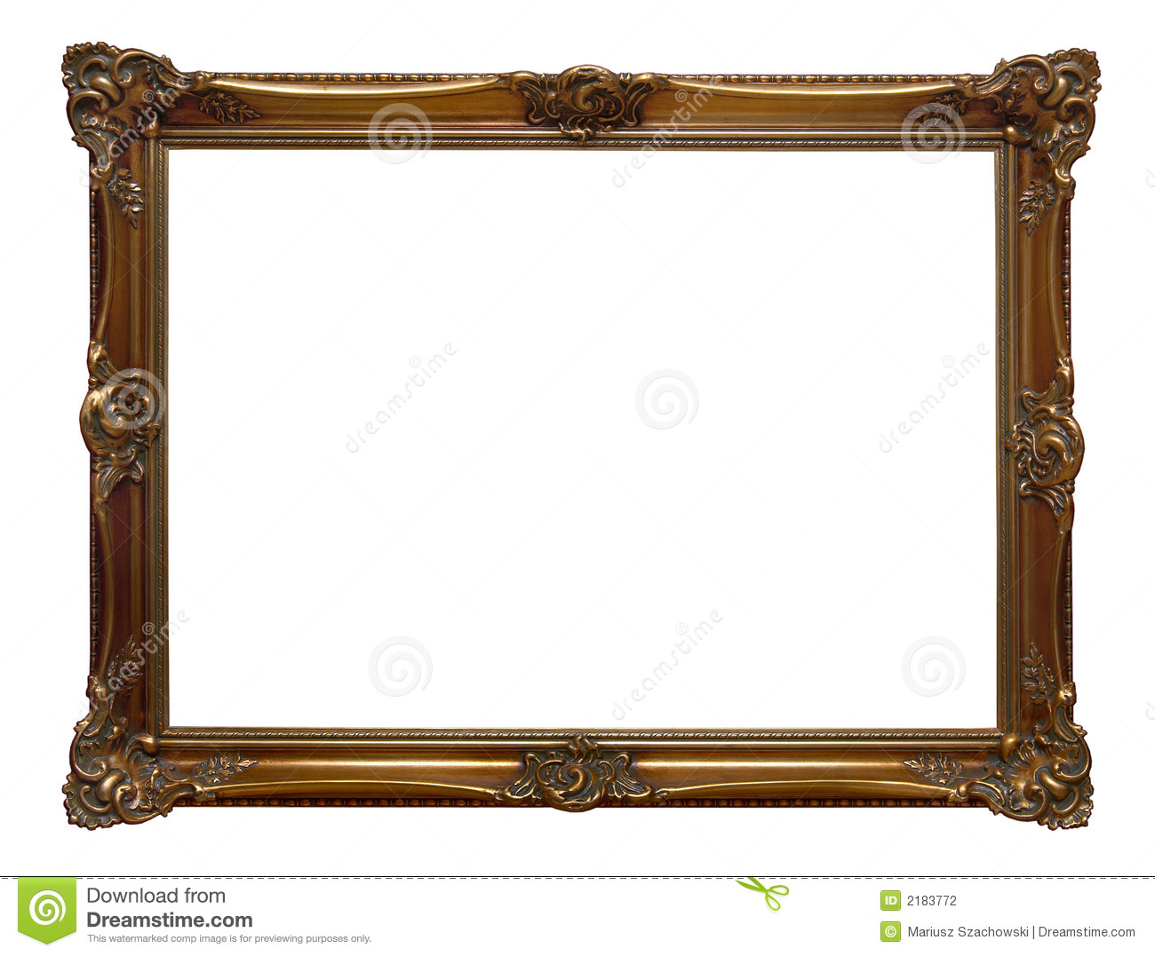 Antique Wooden Frame Stock Photography Image 2183772