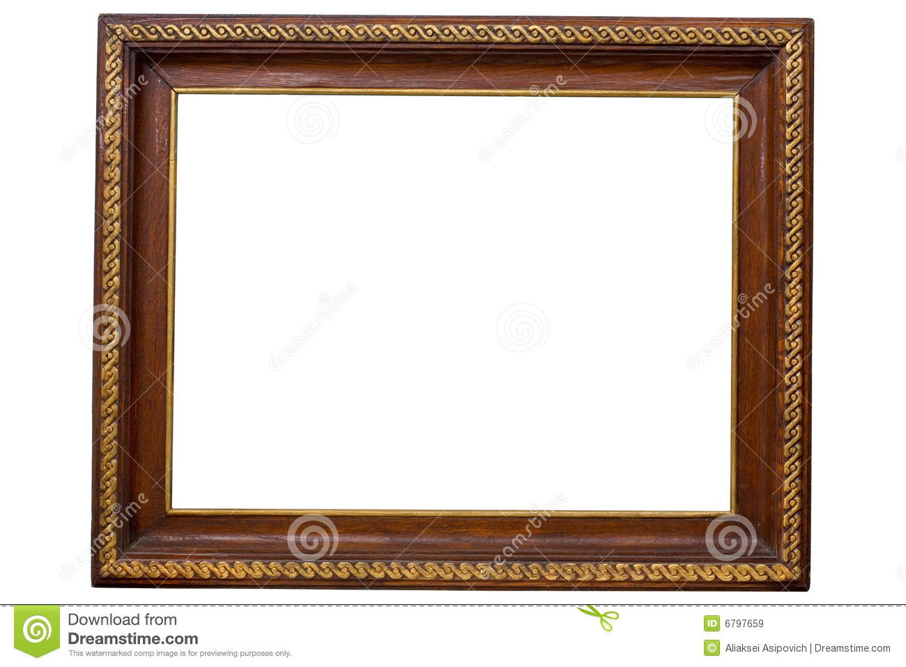 Antique wooden frame stock image. Image of page, painting - 6797659