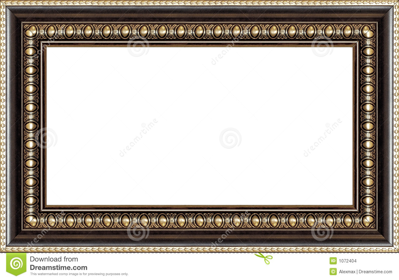 Antique Wooden Picture Frame Stock Photo - Image of grungy, dark ...