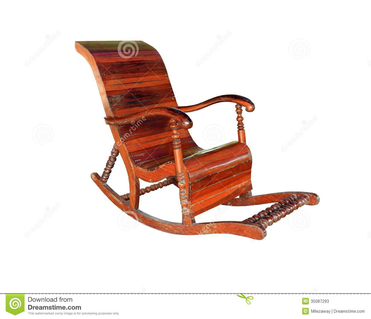 Rocking chair vector antique wooden rocking chair