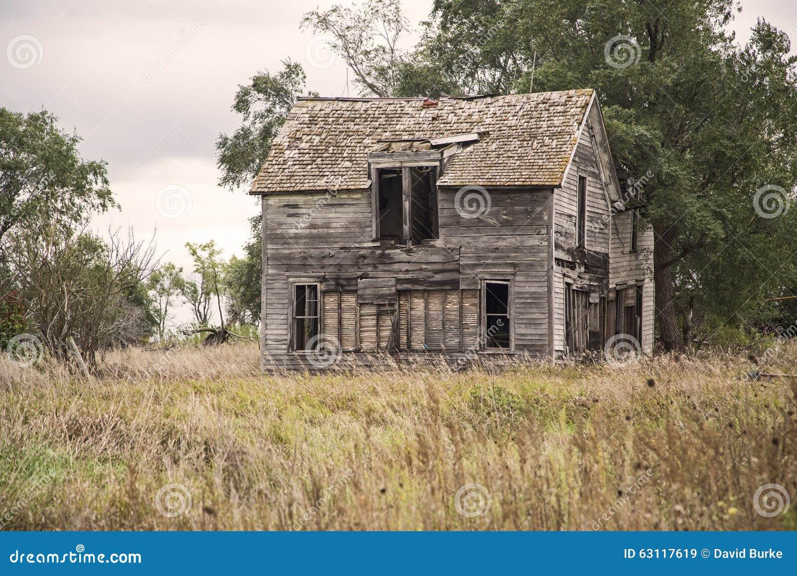 Antique Wooden Rural Farm House Stock Photo Image 63117619