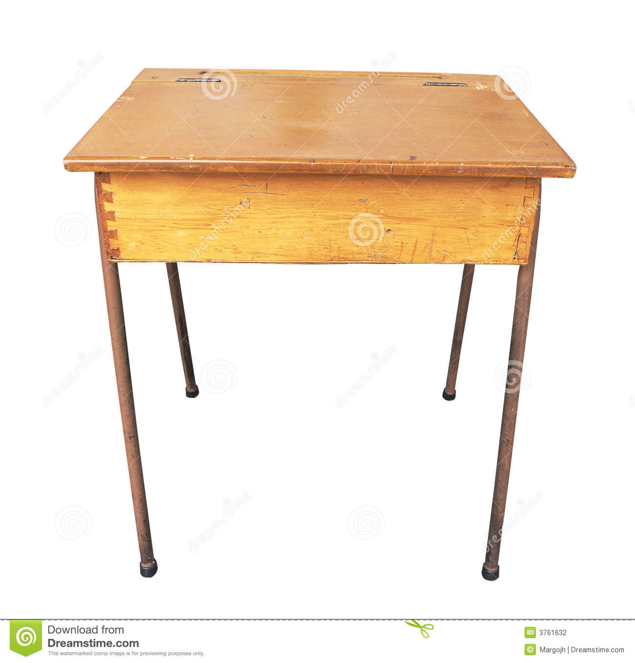 Antique Wooden School Desk Stock Photography Image 3761632