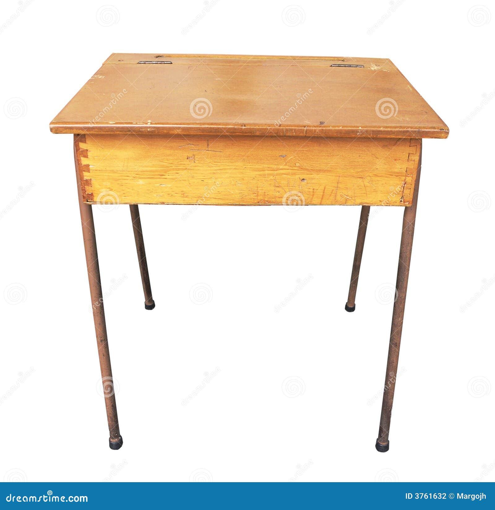Antique Wooden School Desk Stock Photography Image 3761632