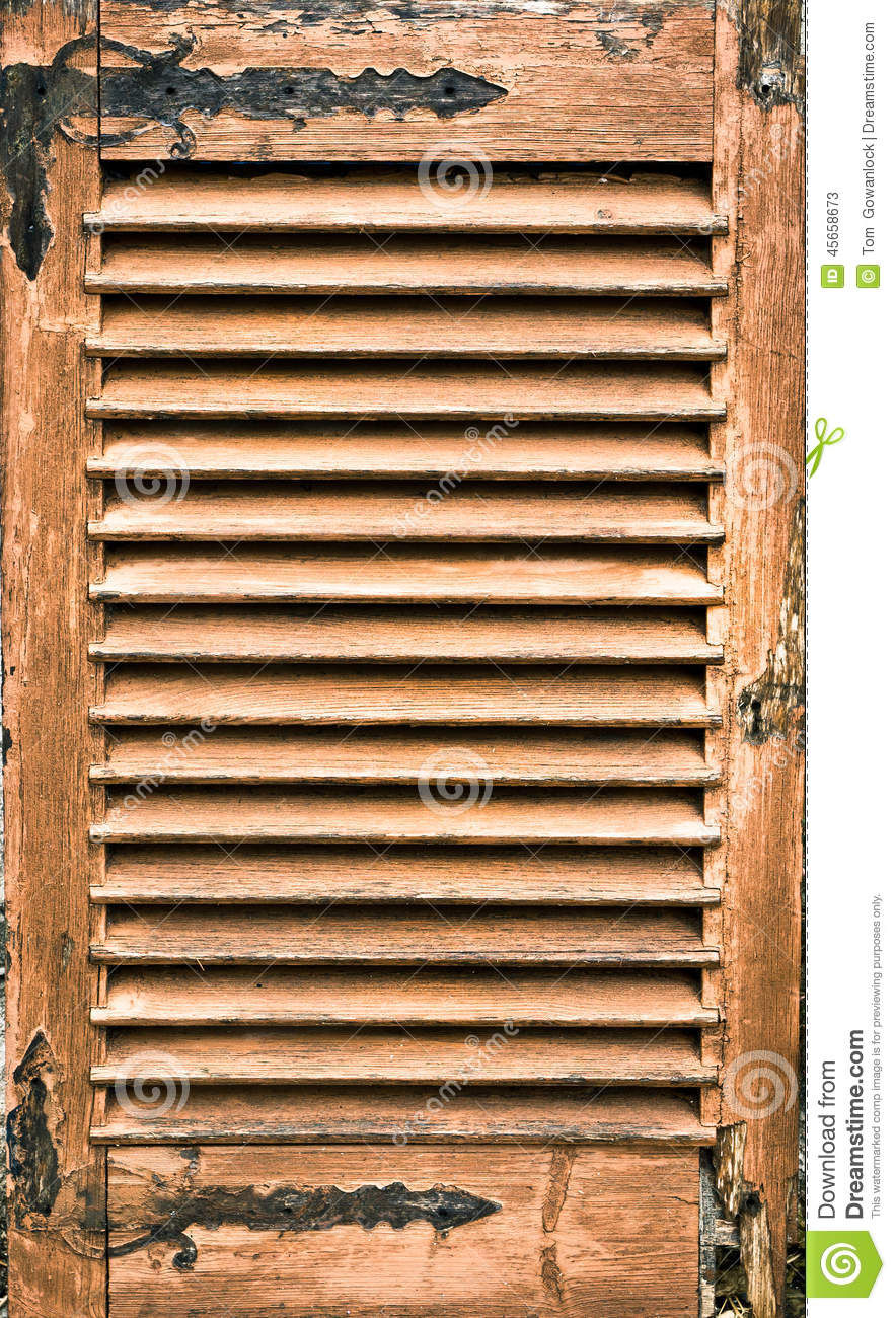 Antique Wooden Shutter Stock Photo Image 45658673