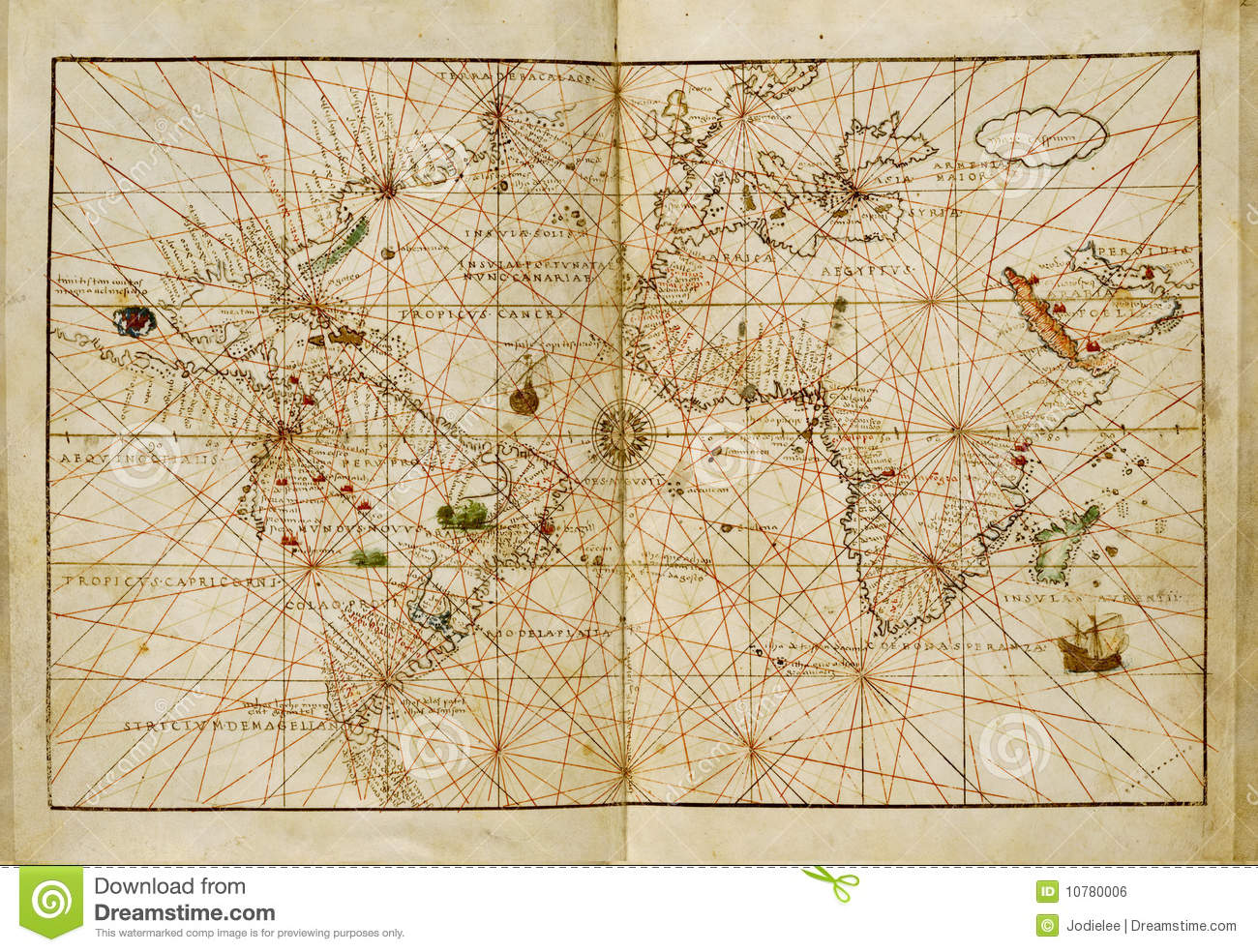 Antique world map stock photo image of directions vintage 10780006 antique world map directions vintage gumiabroncs Images