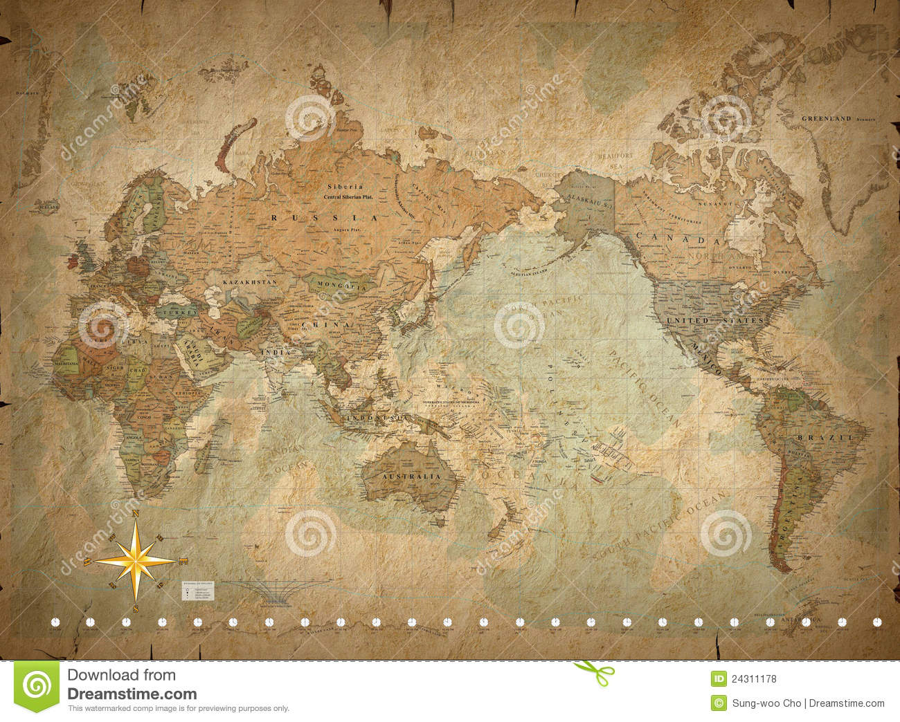 Antique World Map Royalty Free Stock Photos - Image: 24311178 Antique Continent Maps