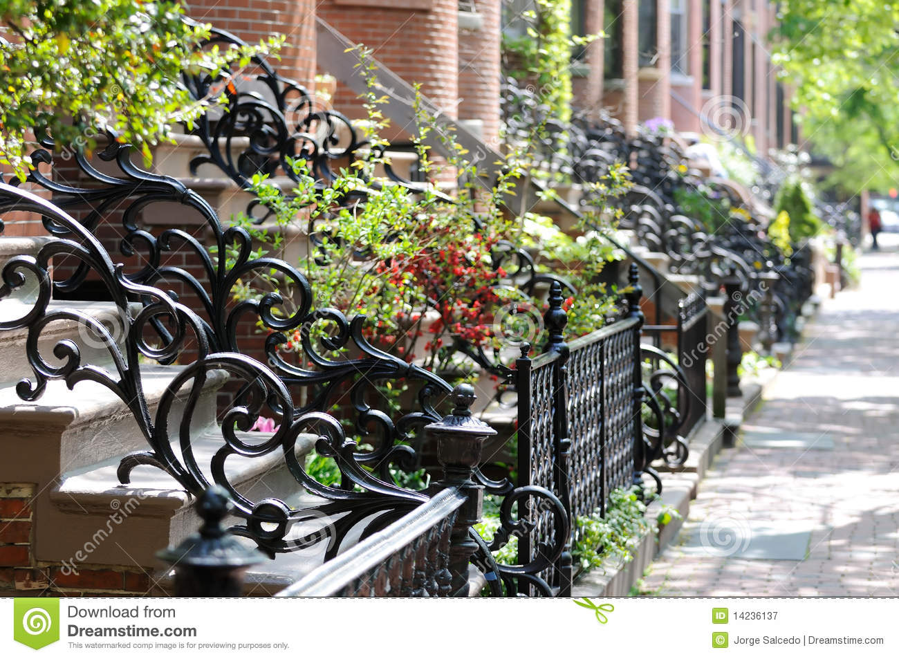 Royalty Free Stock Photography Antique Wrought Iron Railing Fence Image14236137 on Iron Entrance Gates Designs