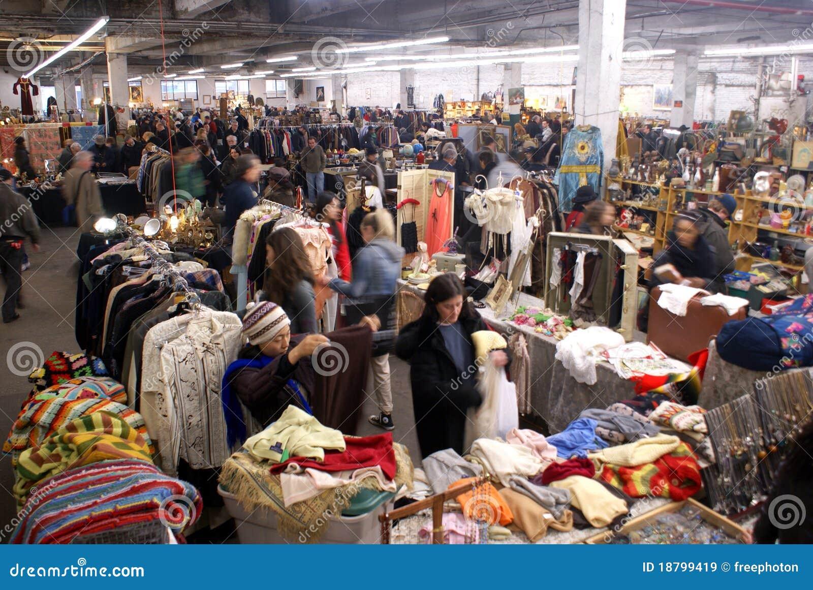 Antiques Garage Flea Market In New York City Editorial