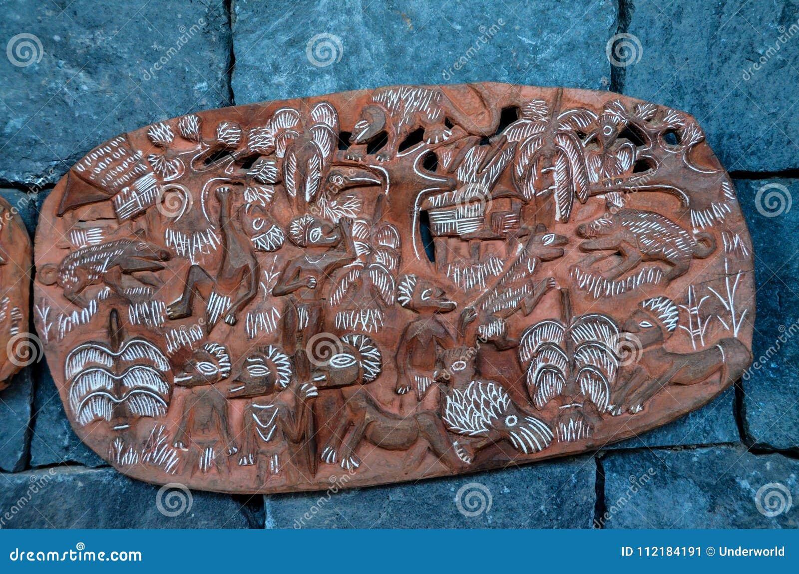 Antiquiteit Gesneden Houten Bas Relief