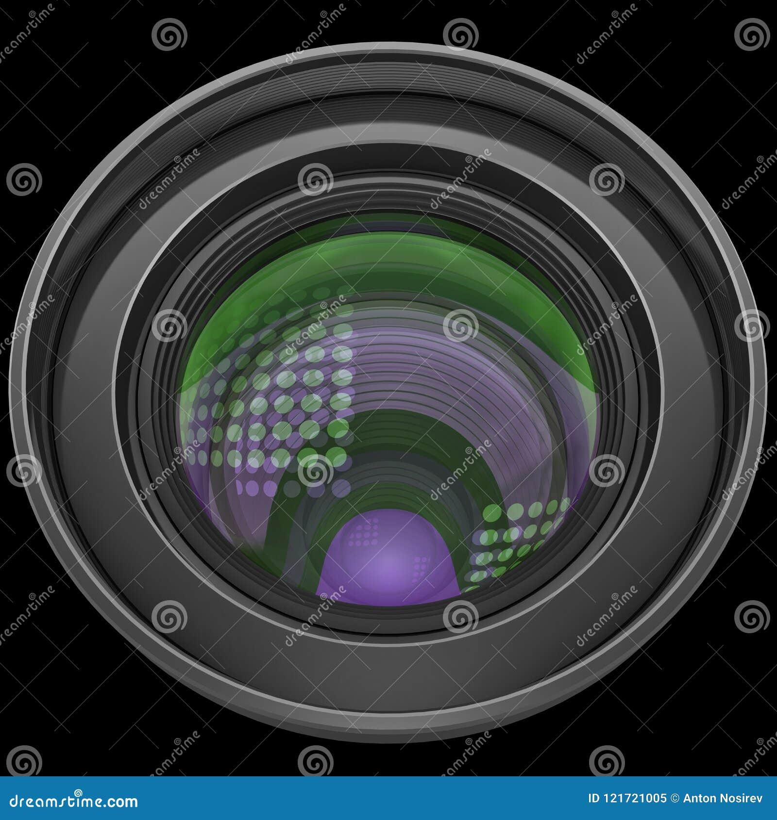 Antireflection van de lens multicolored glans deklaag