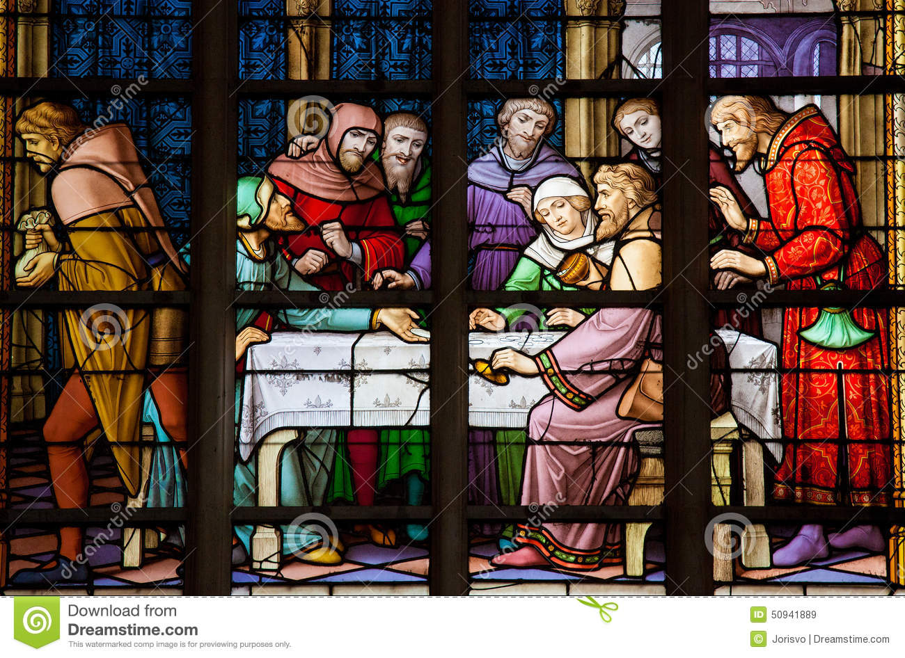Antisemitic stained glass window in Brussels