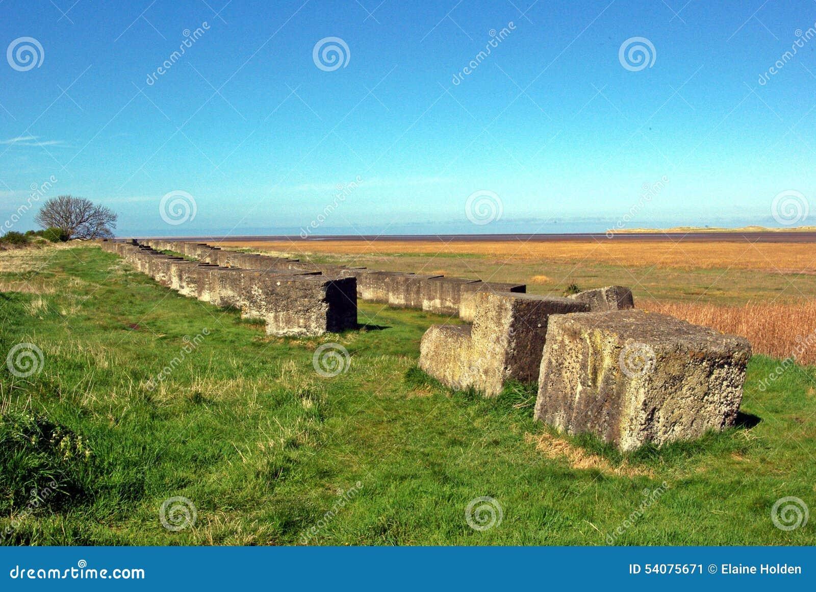 Antitank concrete blokken