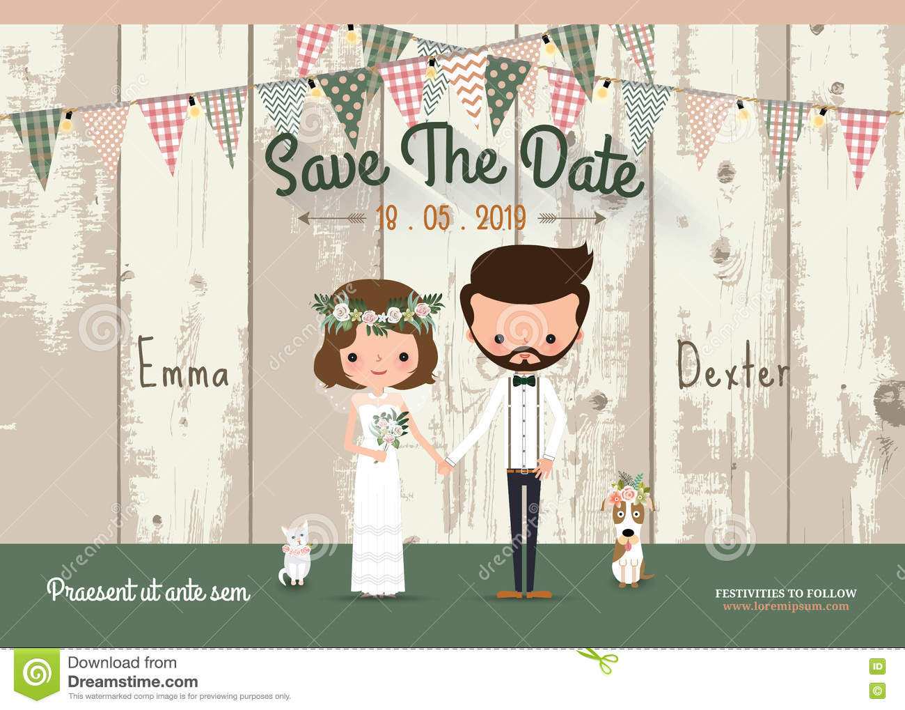 Save The Date Wedding Card PRINTABLE Save the Date PDF