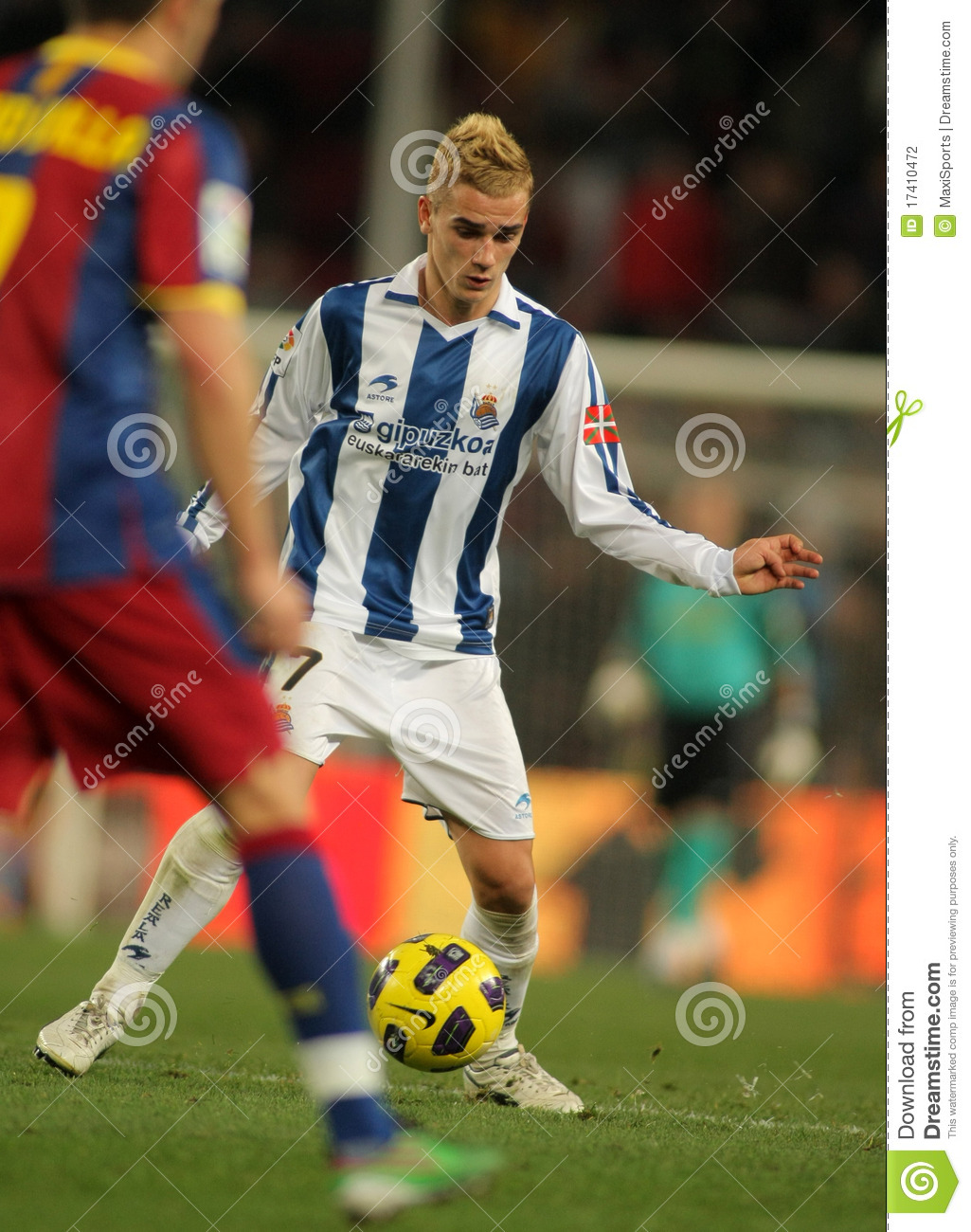 antoine griezmann of real sociedad editorial photography