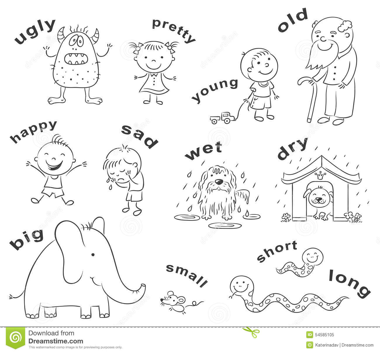 adjective worksheets 1st grade