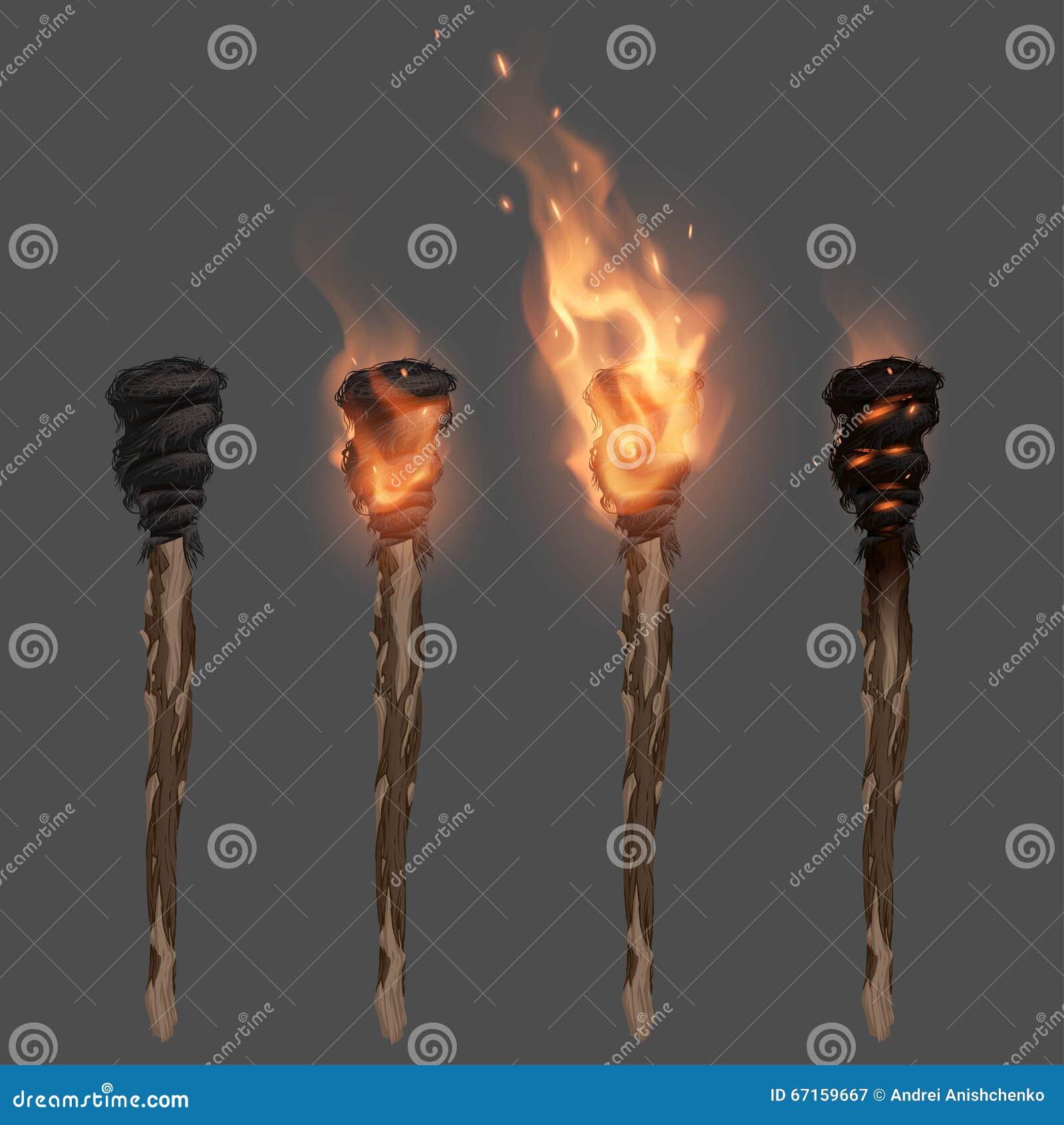 Antorcha con la llama