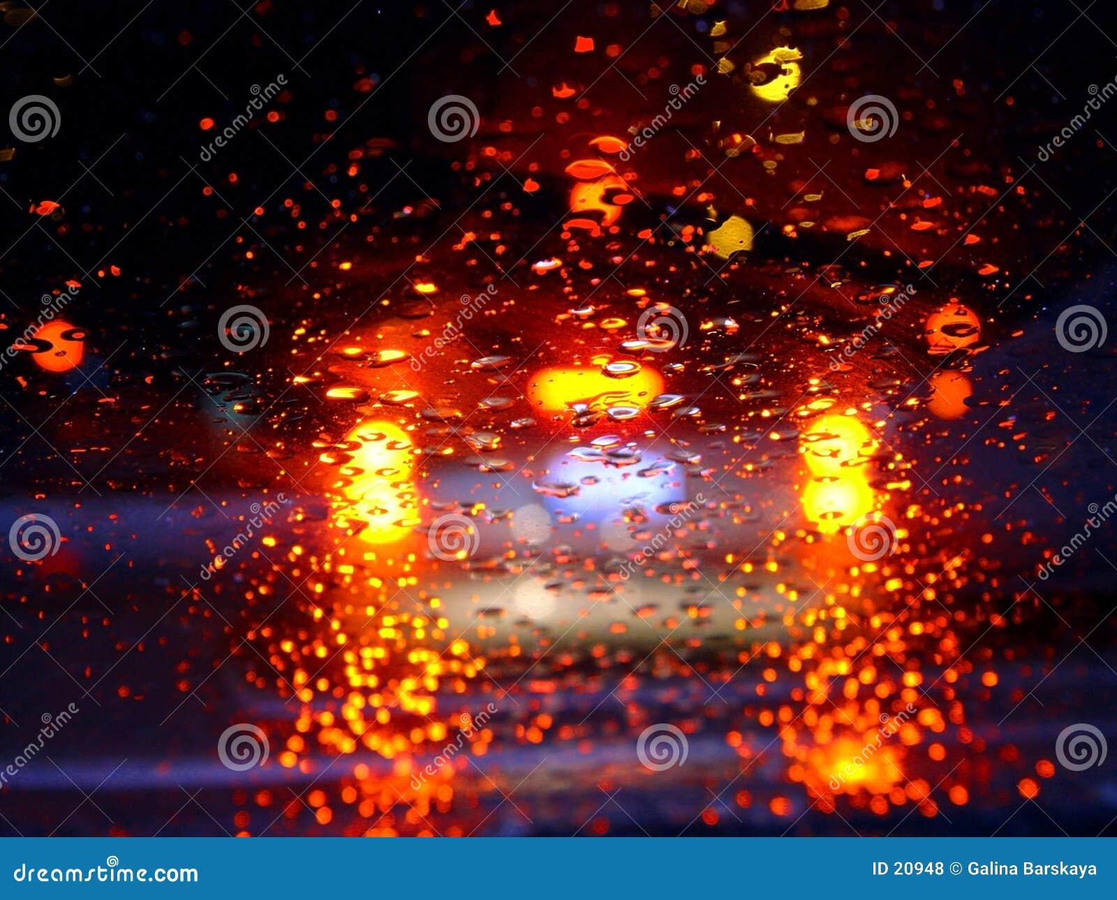 Antreiben in den Regen