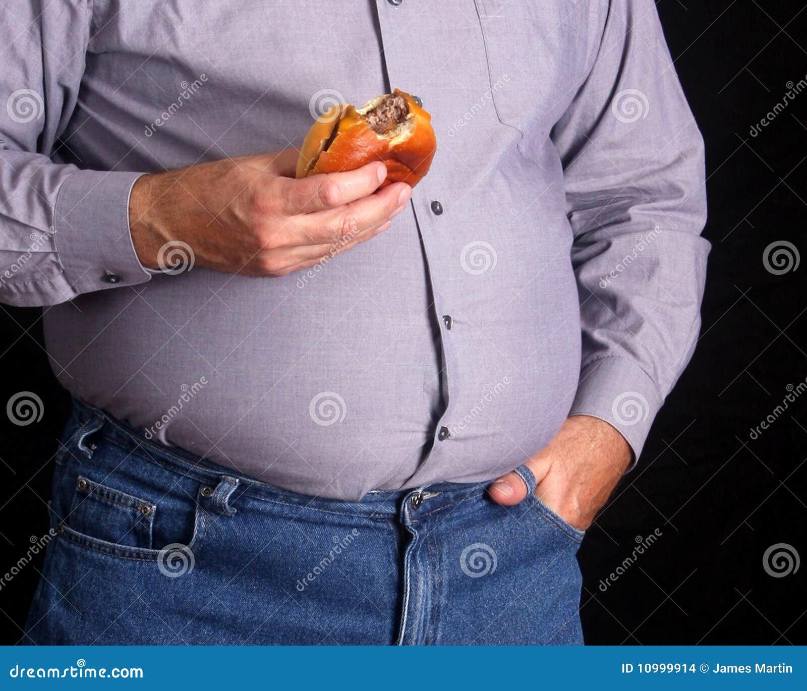 Antropófago gordo un cheeseburger