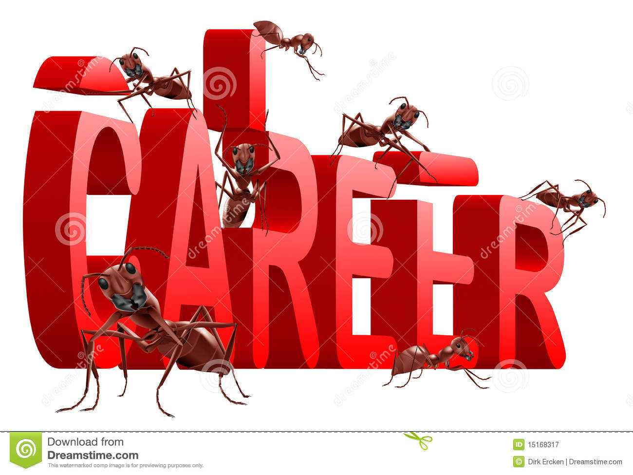 Ants building career jobs planning job search royalty free Where to find a builder