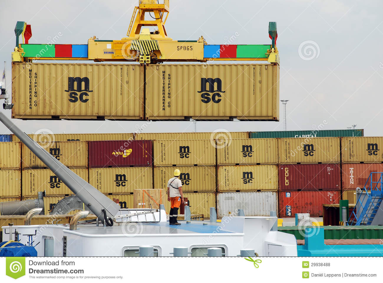 Containers In The Port Of Antwerp Editorial Stock Photo - Image ...