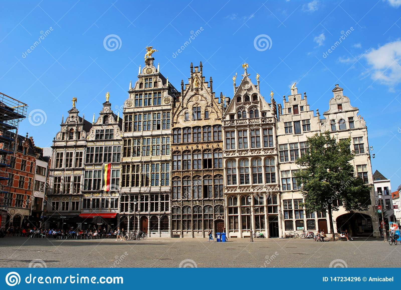 The Historical City Center In Antwerp Editorial Photo Image Of Panorama Antwerp 147234296