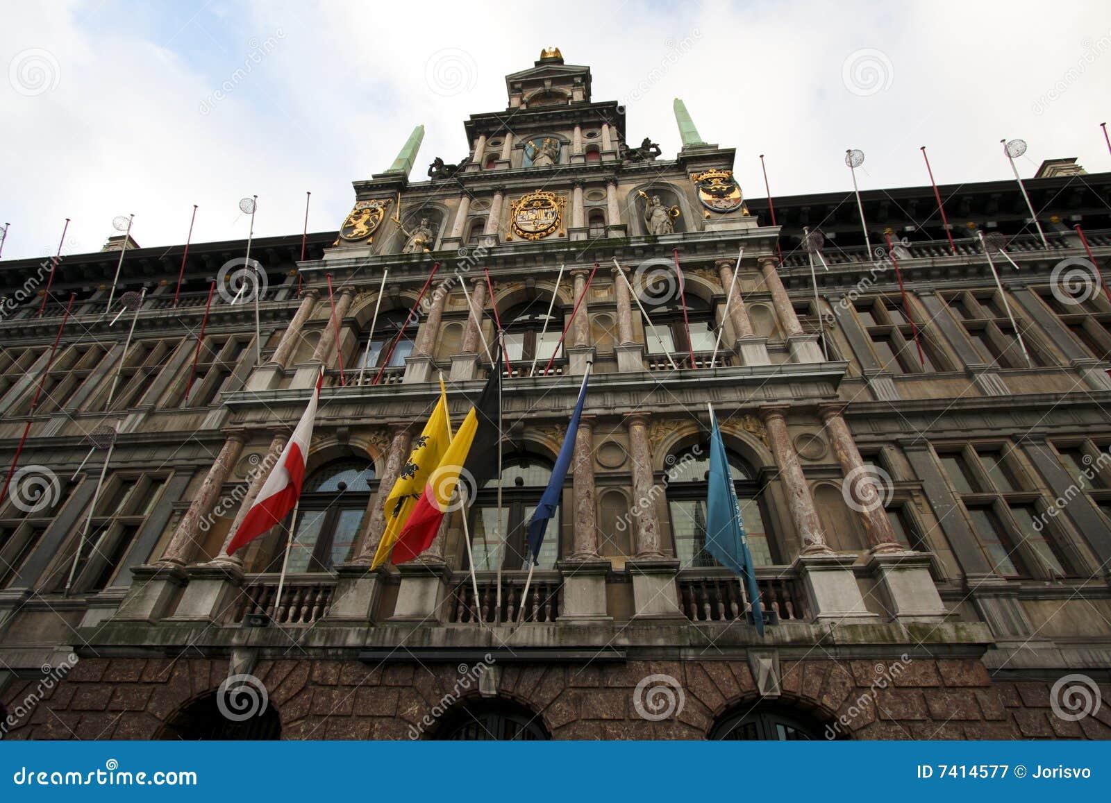 Antwerp urząd miasta Belgium