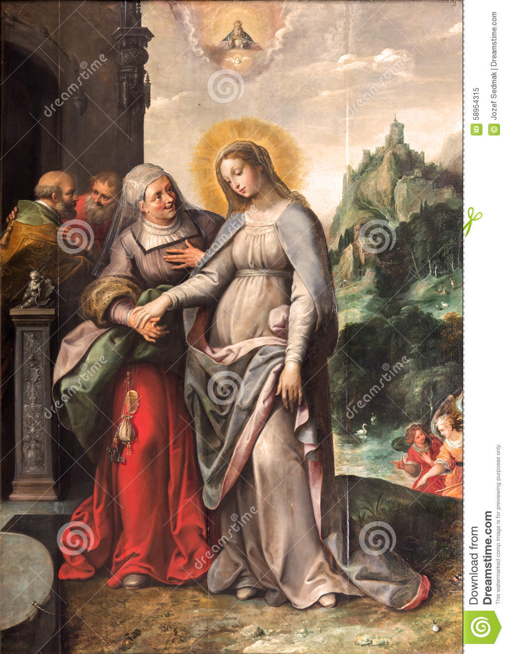 Antwerp The Visitation Of Virgin Mary To Elizabeth By Frans