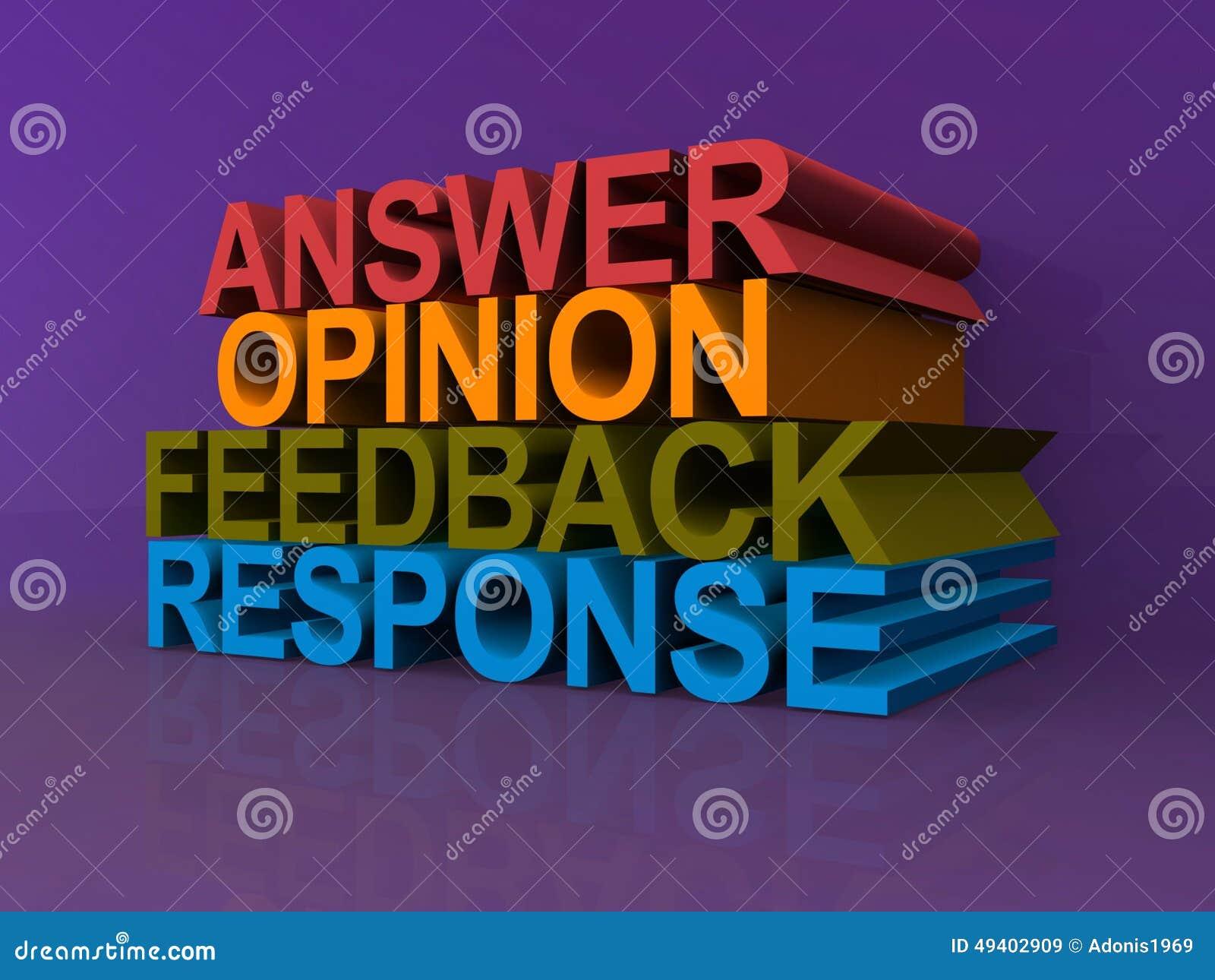 Download Antwortmeinungsfeedback Und -antwort Stock Abbildung - Illustration von konzept, thema: 49402909