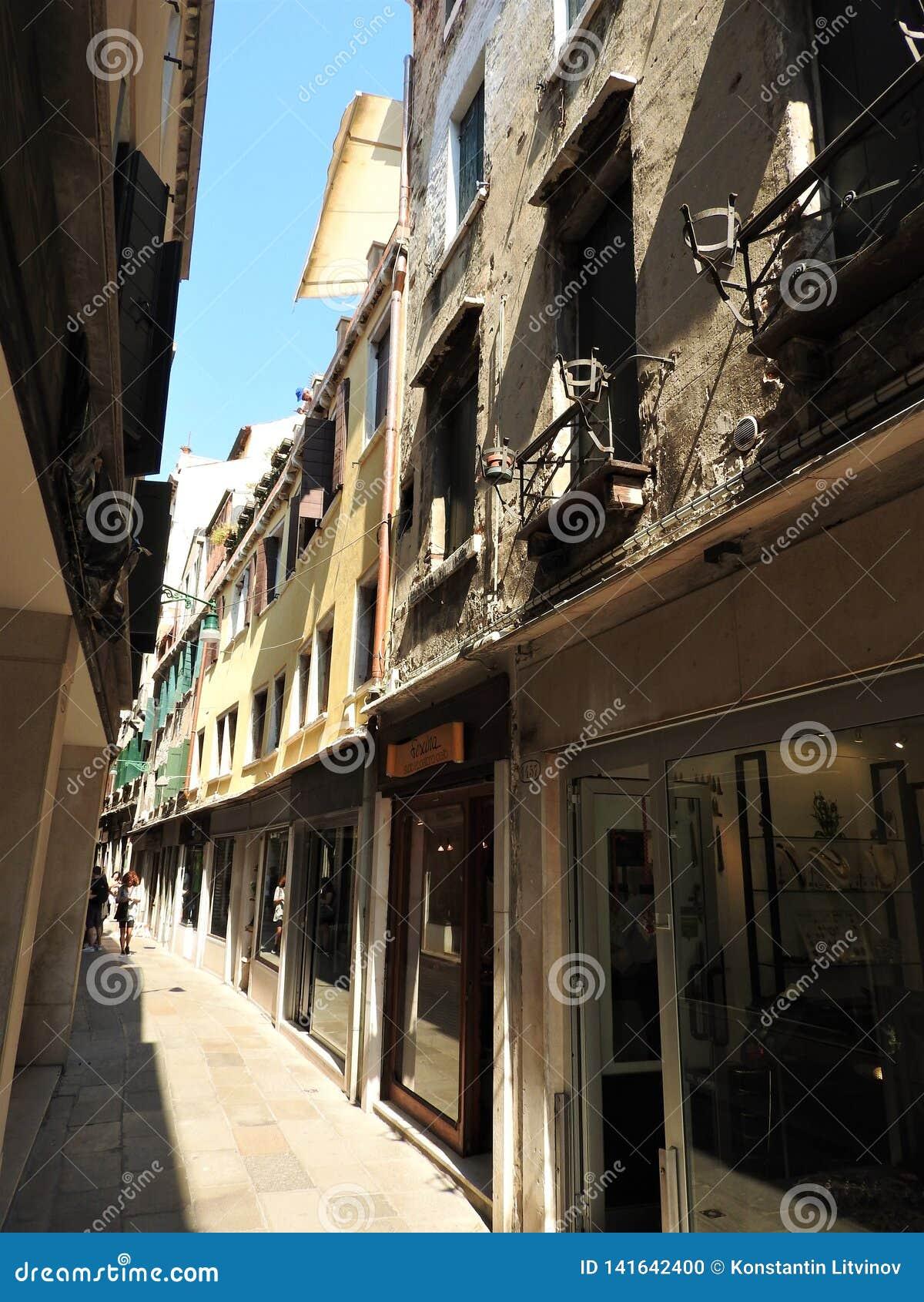 Antyczna architektura kamienne ściany Wenecja, Włochy