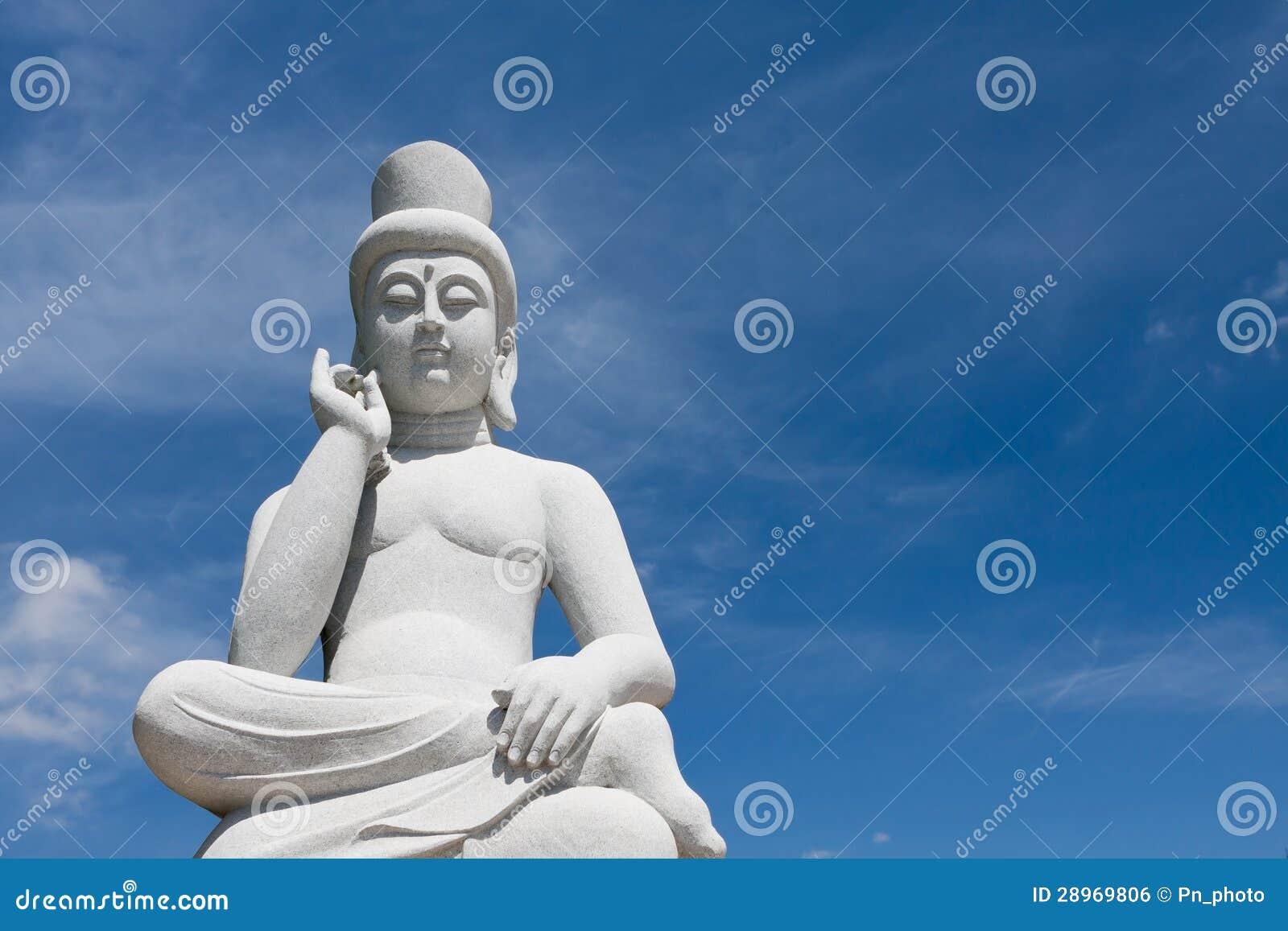 Antyczna Buddha statua